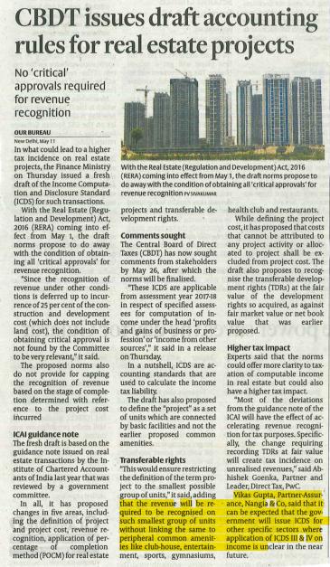 CBDT Issues in Real Estate - Nangia Advisors LLP