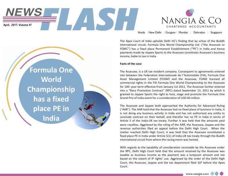 Nangia News flash