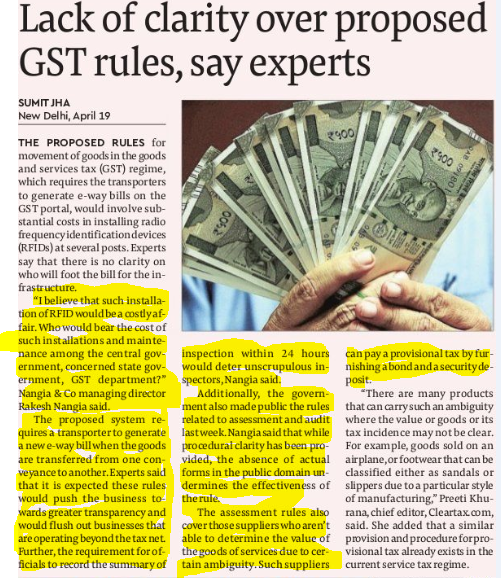 Rakesh Nangia On GST Rules