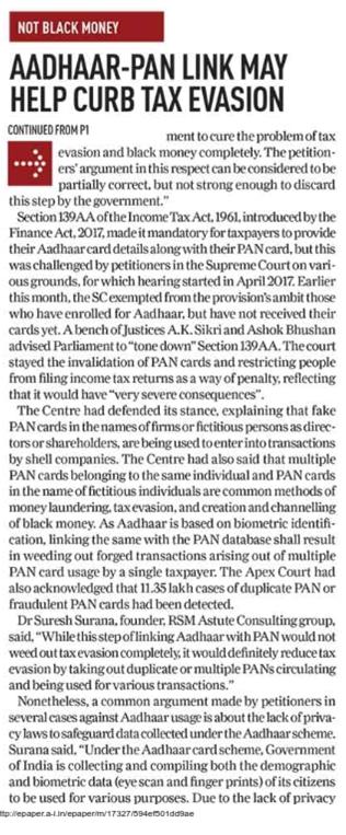 Aadhaar Card Link To Account