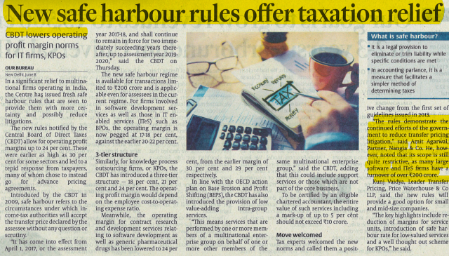 Amit Aggarwal - Safe Harbour Rules For TAX Relief