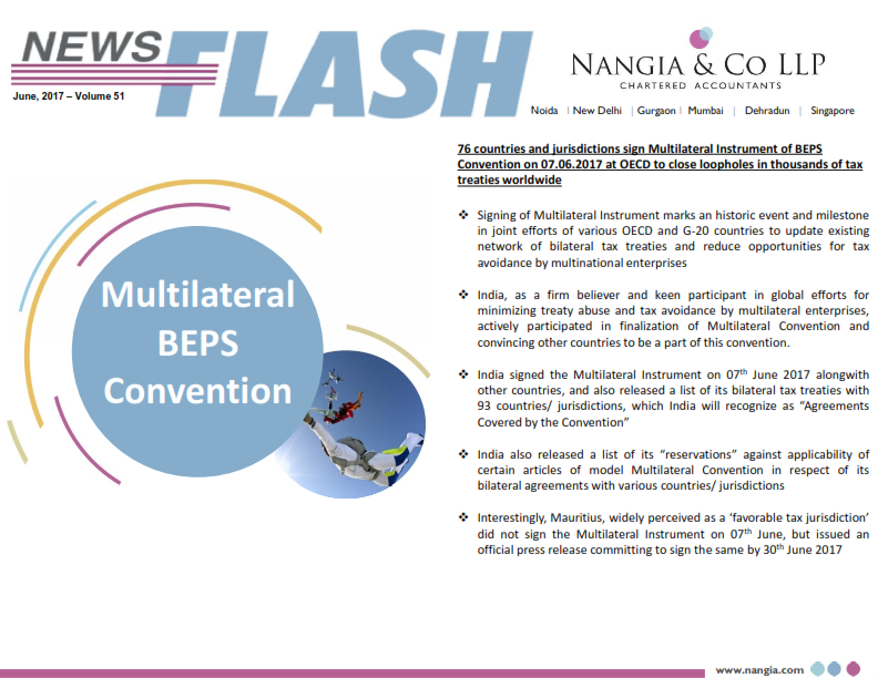 Nangia & LLP News Flash BEPS