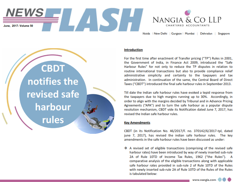 Nangia & LLP News Flash CBDT