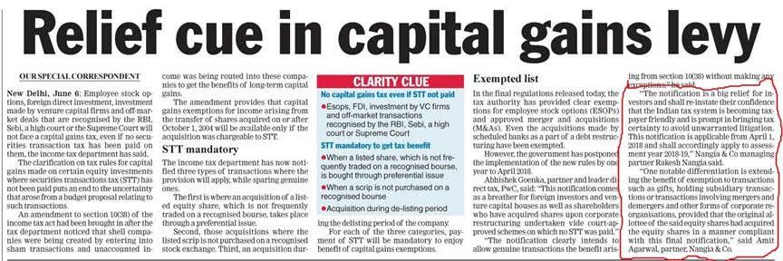 Rakesh Nangia - Capital Gains