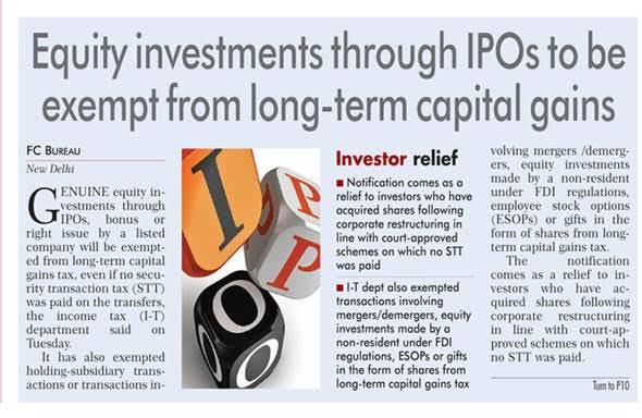 Rakesh Nangia -IPO