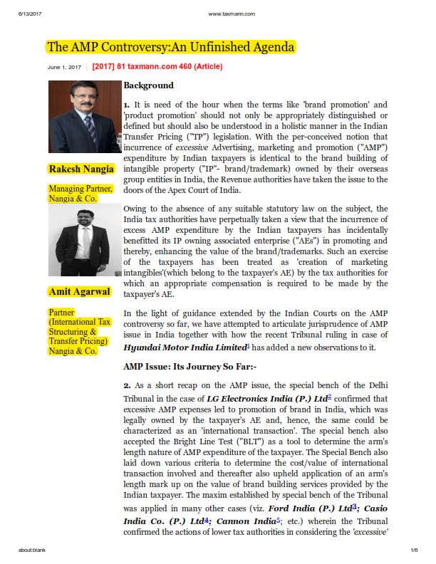 Rakesh Nangia - Nangia Advisors LLP AMP Controversy