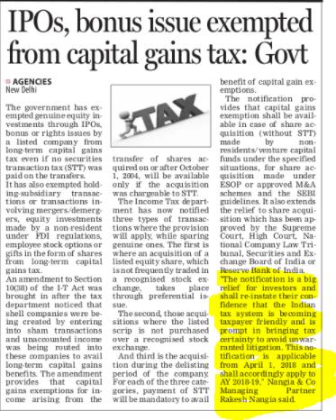 Rakesh Nangia - Nangia & Co LLP IPOs GST