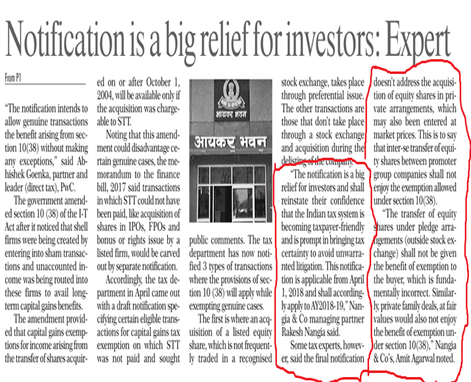 Rakesh Nangia - Nangia Advisors LLP Relief For Investors