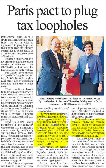 Rakesh Nangia - Paris Impacts Tax Loophole