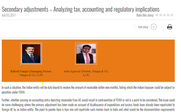 Rakesh Nangia - Nangia Advisors LLP Analyzing Tax