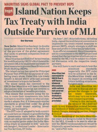 Rakesh Nangia - Nangia & Co LLP Tax Treaty With India