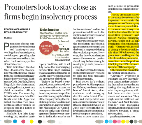 Rakesh Nangia - Promoters Look To Stay Close