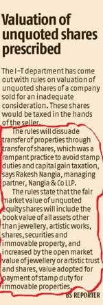 Rakesh Nangia - Valuation Unquoted