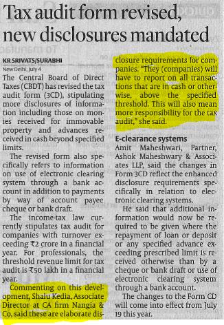 Shalu Kedia - Tax Audit Form Revised