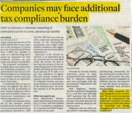 Companies May face Additional Tax Burden
