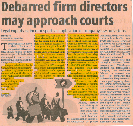 Debarred Firm Directors - Nangia & CO