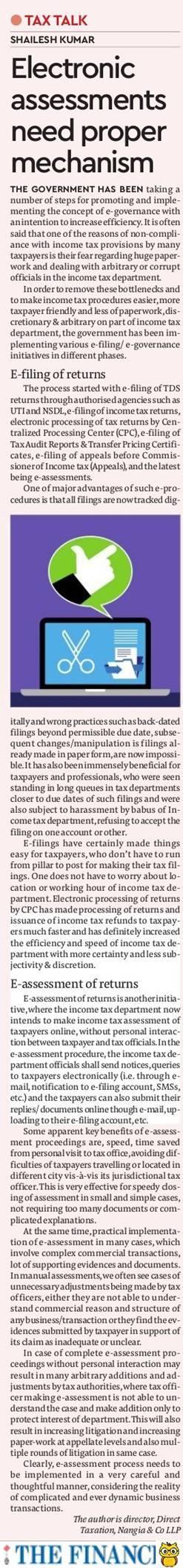 E-assessments need proper mechanism - Shailesh Kumar