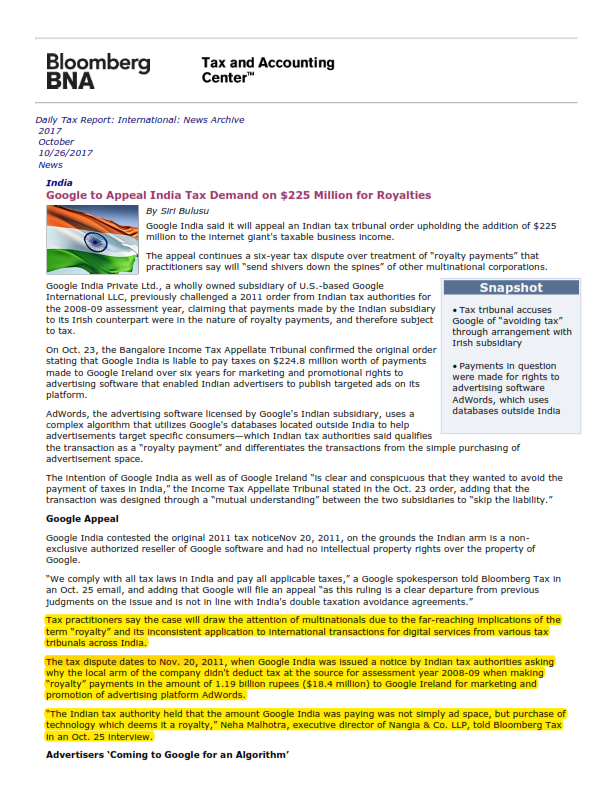 Google to appeal ITAT's order on 'royalty - Neha Malhotra