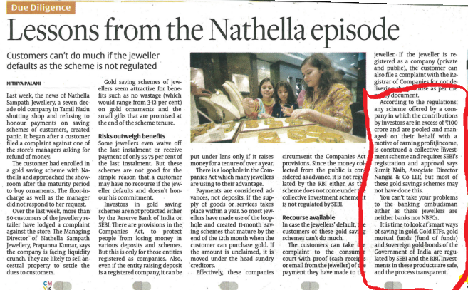 Lessons from the Nathella episode - Sumit Naib