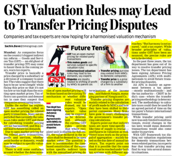 Valuation rules under GST - Rakesh Nangia