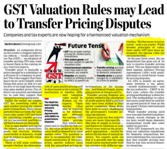 Valuation rules under GST - Rakesh Nangia