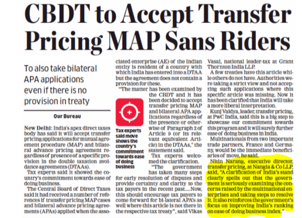 CBDT relaxes norms for MAP - Nitin Narang