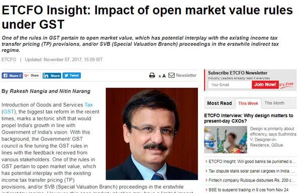 Impact market rules under GST- Rakesh Nangia