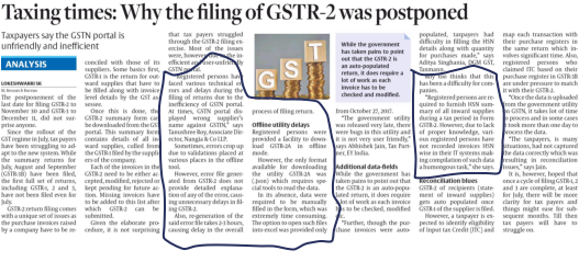 filing of GST-2 was postponded