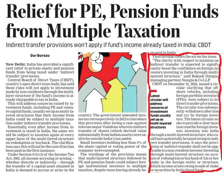 pension funds from multiple taxation - Rakesh Nangia