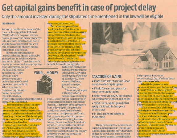 Get-capital-gains benefit-in-case-of project-delay