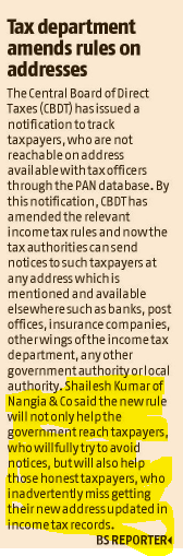 Tax Department Amends
