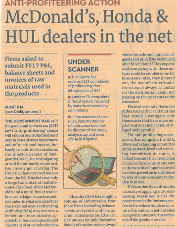 anti-profiteering-crackdown -mcdonald-hond-hul-dealer-caught in-net-firms-balance- sheetsunder-scanner-now