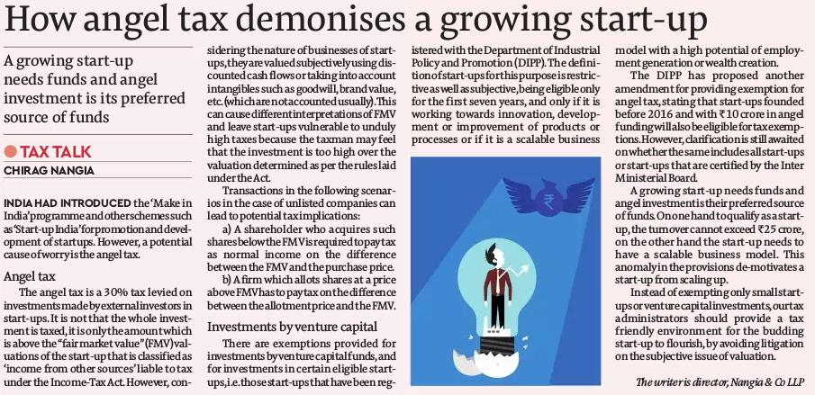 How angel tax demonises a growing start-up- Chirag Nangia