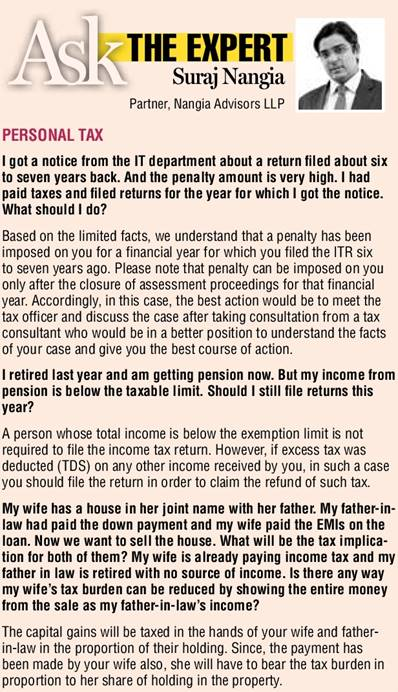 Ask THE EXPERT column by Suraj Nangia