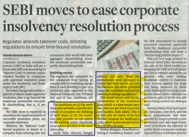 sebi-moves-to-ease-corporate-insolvency-resolution-process