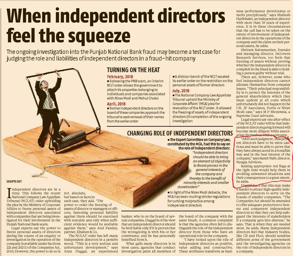 PNB fraud may become a test case for judging roles of independent directors - Sumit Naib