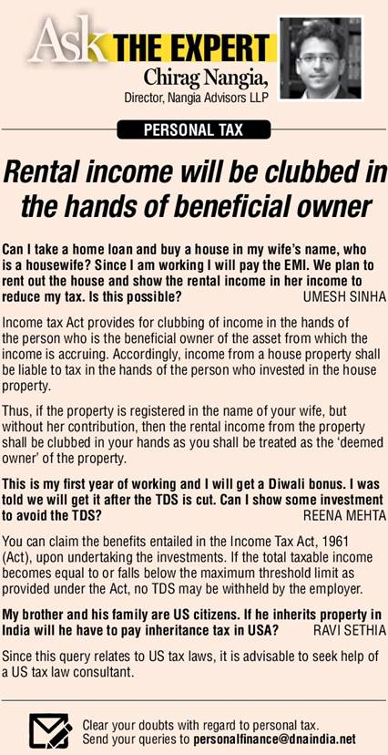 answers the weekly queries on personal tax - Chirag Nangia
