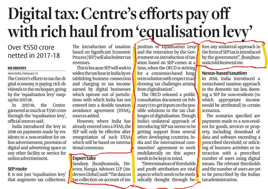 Digital tax: Centre rakes in moolah with 'equalisation levy