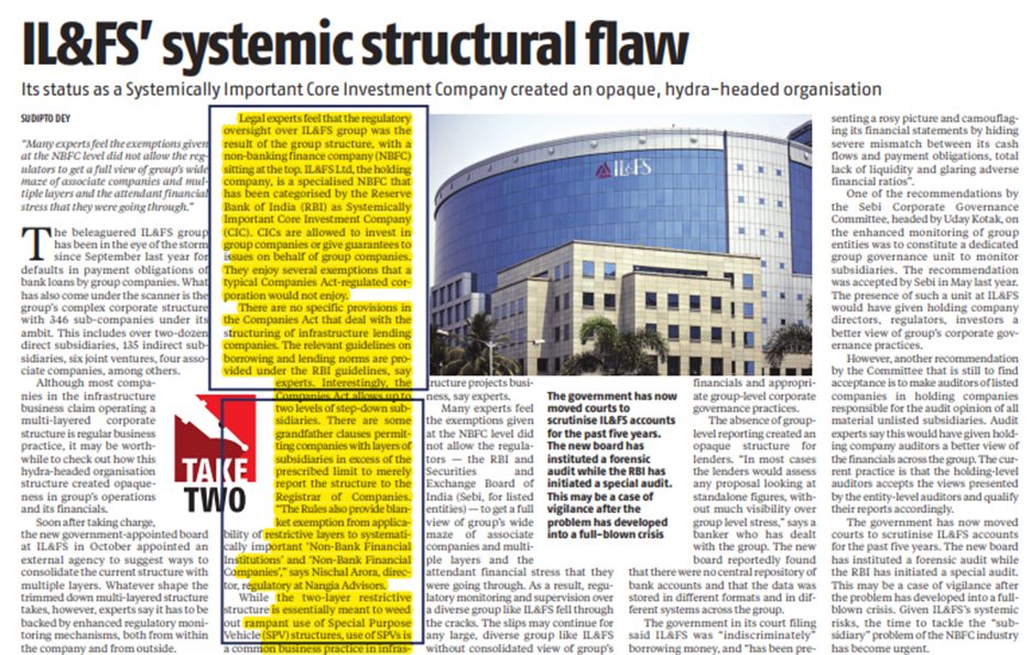 IL&FS' systemic structural flaw