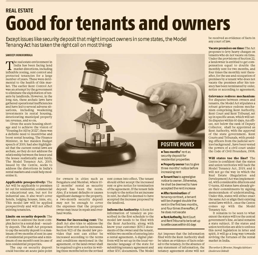 Model Tenancy Act takes checks most boxes