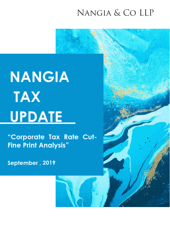 Corporate Tax Rate Cut- Fine Print Analysis